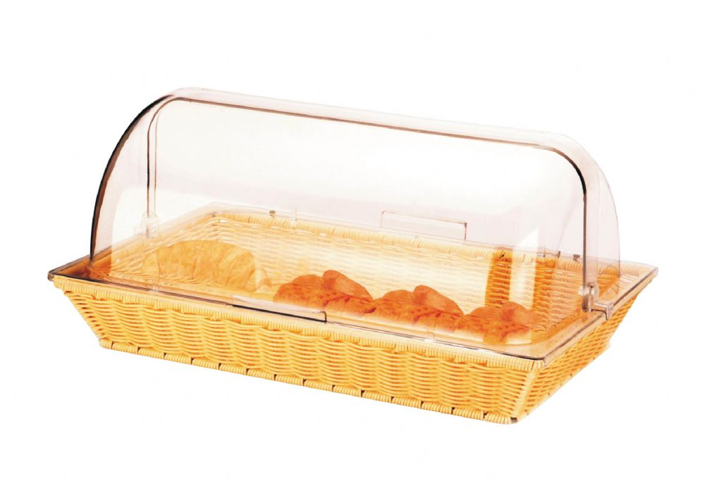 Commercial Bread Display Basket With Roll Top Hygiene